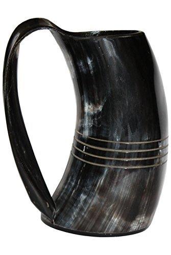 Polished Finish Drinking Horn Tankard 16