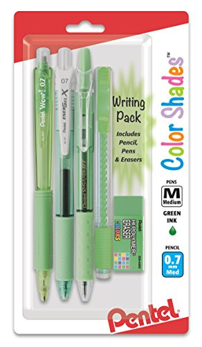 Pentel Color Shades Writing Pack - Pastel Light Green (BLBKALZBPK)