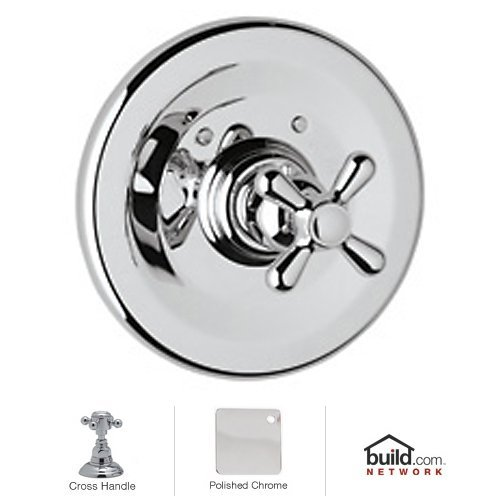 - Rohl A2914XMAPC Ac95Lm-Apc-2 A2914Xm Verona Thermostatic Shower Valve Trim Only with Metal Cross, Polished Chrome by Rohl