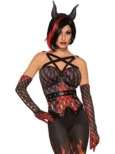 Forum Novelties 80744 Devils-Demon Corset, Standard, Red/Black -