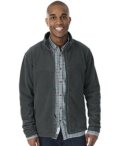 Charles River Men's Boundary Fleece Jacket-Charcoal Heather-L (Boundary Fleece)