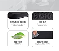 "The Original 3/4"" GORILLA GRIP Non-Slip Anti-Fatigue Comfort Mat, Ergonomically Engineered, Highest Quality Material, Non-Toxic, Waterproof"