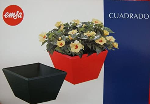 EMSA Blumentopf Übertopf Pflanzkübel Blumenkübel rot: Amazon.de ...