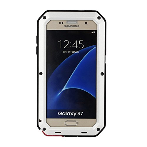 Weight Hammer Throwing (Galaxy S7 Case,Mangix 3C-Aone Gorilla Glass Luxury Aluminum Alloy Protective Metal Extreme Shockproof Military Bumper Finger Scanner Cover Shell Case Skin Protector for Samsung Galaxy S7 (Silver))