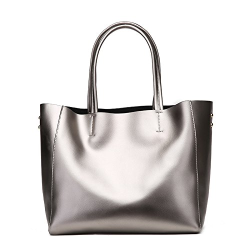 Silver Gran gray GUANGMING77 Dama Bolso Color Bolso Bronce xY8CwHqw