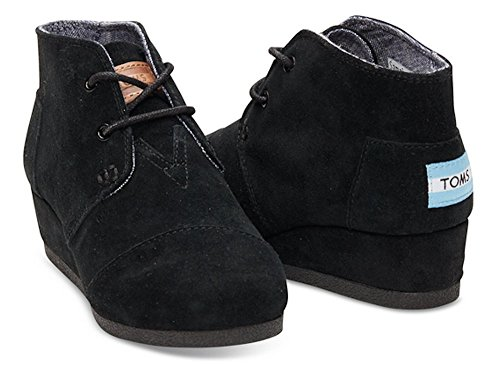 Girl's Toms 'Desert - Youth' Wedge Bootie, Size 12.5 M - Bla
