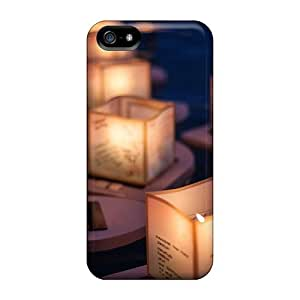 Tpu Case Cover For Iphone 5/5s Strong Protect Case - Floating Lanterns Design by mcsharks