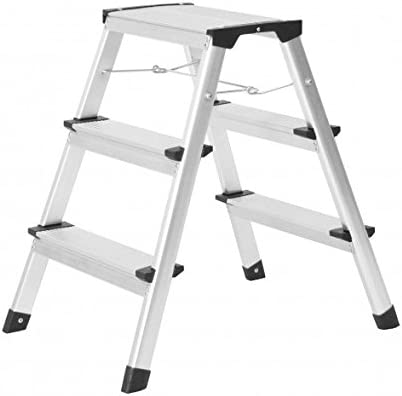 Aluminio de Escalera (3 peldaños tradicional Discoteca Bajo Escalera escalera 2 x 3 peldaños 150 kg: Amazon.es: Oficina y papelería