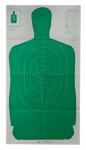 Champion Traps and Targets 40735 Champion LE 24x45-Inch Green Police B27FSA Silhouette Target (Pack of - Gun Champion Target