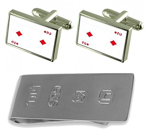 Diamond Clip Playing Bond amp; Cufflinks Money 2 Card number James rrqdwgz4