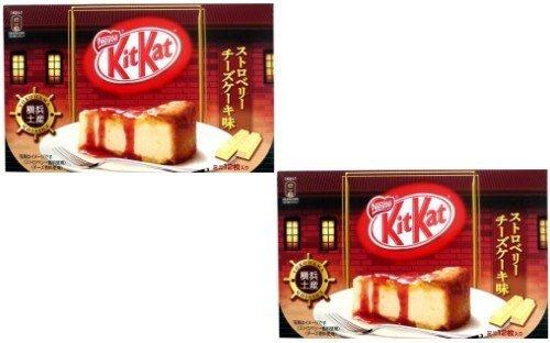 Japanese Kit Kat - Strawberry Cheese Cake Chocolate Box 5.2oz (12 Mini Bar) 2 Packs