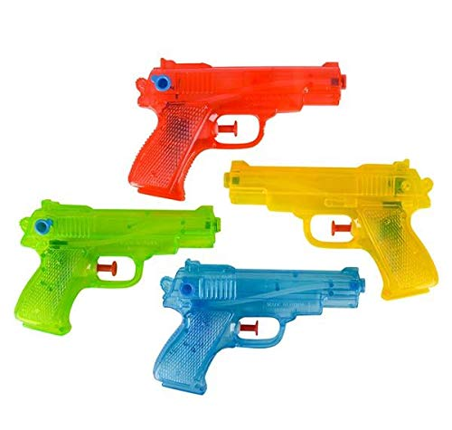 Rhode Island Novelty 6.5 Inch Squirt Guns | 2 Pack | Assorted Colors