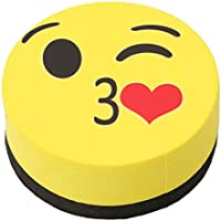 SOURBAN Magnetic Emoji Dry Whiteboard Eraser (Yellow)