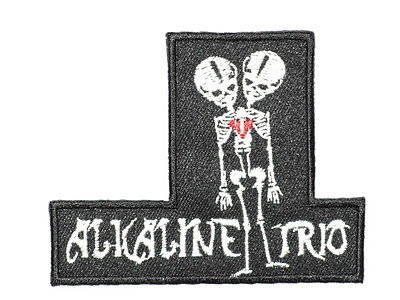 ALKALINE TRIO Two Headed Skeleton Punk Rock Iron On Embroidered PatchApprox: 3.5