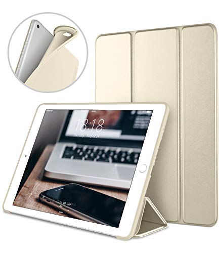 iPad Case for iPad Mini 4, DTTO [Anti-Scratch] Ultra Slim Lightweight [Auto Sleep/Wake] Smart Case Trifold Cover Stand with Flexible Soft TPU Back Cover for iPad mini4, Champagne Gold