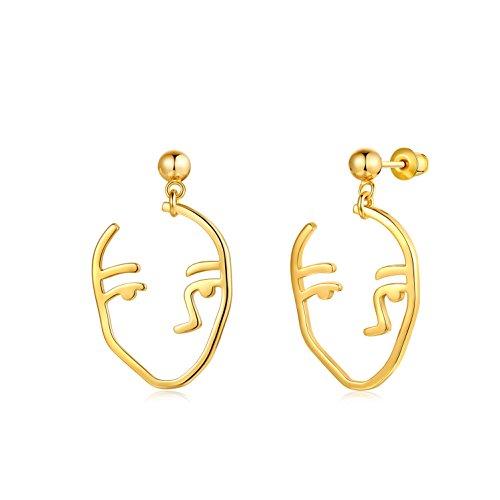 Pendientes colgantes de gota, pendientes de moda para mujer, chapados en oro