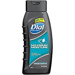 Dial for Men Body Wash, Maximum Moisture with Moisturizing Vitamin Complex, 16 Fluid Ounces