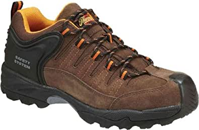Men's Thorogood Gravity Sport Oxford Composite Safety Toe Shoes Brown, BROWN, 4.5M