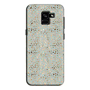 Cover It Up - Brown Cyan Pebbles Mosaic Galaxy A8 Plus Hard Case