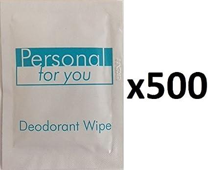 Toallitas desodorantes personales para usted, paquete de 500