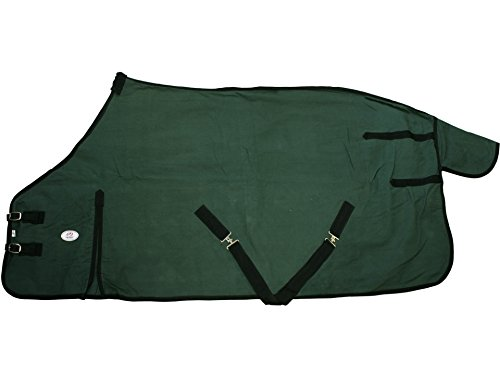 as Blanket with Wool Lining Front Gussets & Half Surcingles, Hunter Green , 18 oz/69