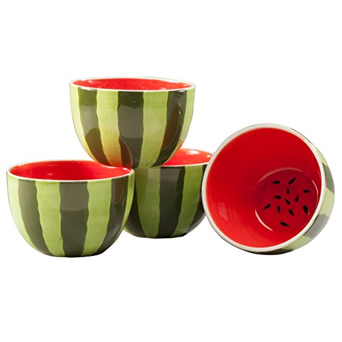 (Set of 4 Ceramic Watermelon)