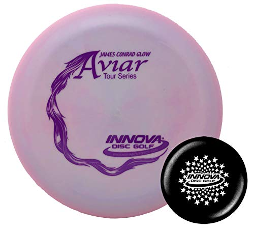 Innova Disc Golf Pro Glow Aviar James Conrad Tour Series 2019 Big Bead with Limited Edition Stars Stamped Innova Mini - Colors Will Vary - 173-175g