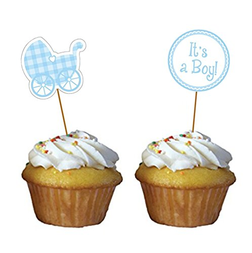 Stroller Baby Shower Cake Toppers - 7