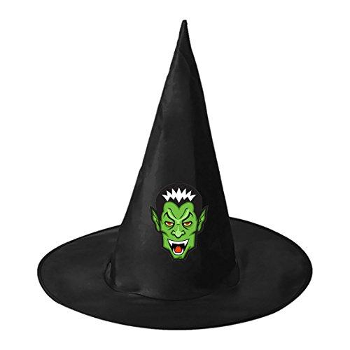 Pictures Of Unique Homemade Halloween Costumes (SEBIDAI Green Creepy Vampire Black Wizard Cap for Halloween Costume Party)