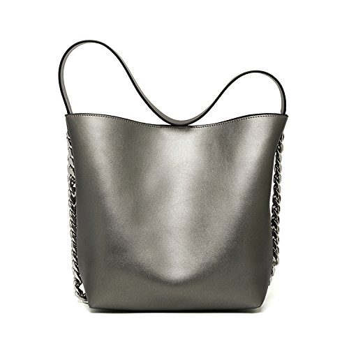 Bolsos de alta capacidad otoño e invierno nuevas señoras bolso bolsa niño paquete diagonal de gran capacidad, plata Gold