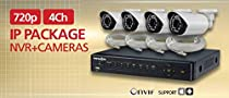 720p 4 Channel IP Package w/ 1TB HDD (Cameras + NVR)