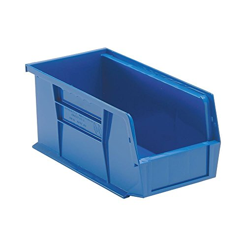 Quantum QUS230 Plastic Storage Stacking Ultra Bin, 10-Inch by 5-Inch by 5-Inch, Blue, Case of 12