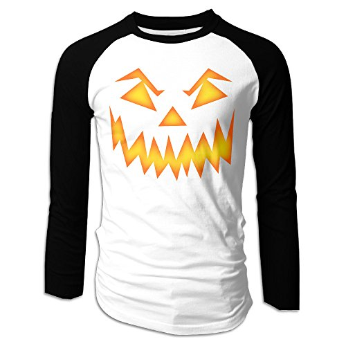MEGGE Pumpkin Face Halloween 1 Men Bottoming Shirt Black -
