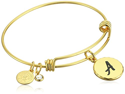 Halos & Glories, Initial A Shiny Gold Bangle Bracelet