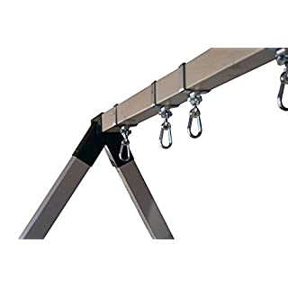"Safari Swings 2 Heavy Duty Iron Swing Hangers for Wooden Sets | Includes 2 Snap Hooks. for Connecting to a 4""x6"" Beam/Lumber"
