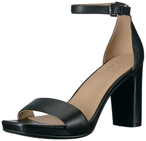 Naturalizer Women's Joy Heeled Sandal, Black Leather, 7.5 M US