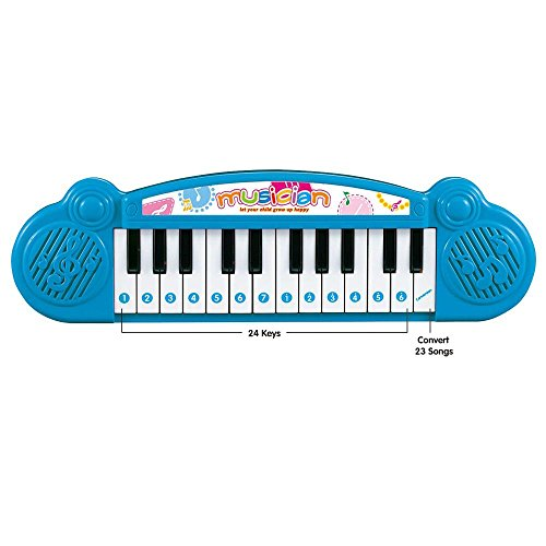 Lightahead Mini 24 Keys Musical Keyboard Piano for Kids Blue