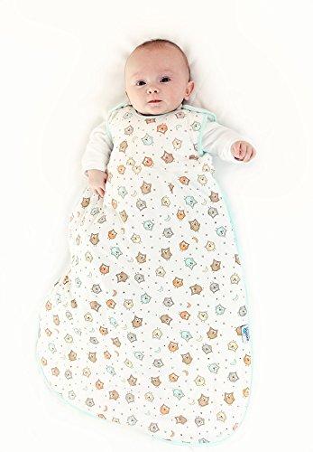 Schlummersack Babyschlafsack Sommer f/ür Neugeborene komplett ungef/üttert in 0.5 Tog Eule 56 cm f/ür Jungs und M/ädchen