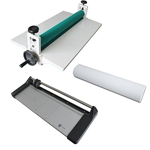 25.5'' Cold Laminator +24in Rotary Paper Cutter Trimmer + Rolls Laminating Film by Cold Laminating Machine/Films