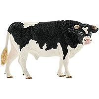 Schleich - Figura toro frisón de manchas negras