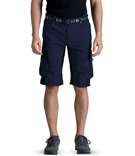 Outto Men's Water Repellent MTB Baggy Cycling Shorts, Loose-Fit Biking 1/2 Pants, Outdoor Sports Leisure Bottoms (32-34,1202 Navy Blue)