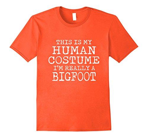 Male Halloween Costumes Easy (Mens BIGFOOT Halloween Costume shirt Easy for Men, Women, Kids 2XL Orange)