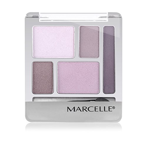Marcelle Quintet Eyeshadow, Plum Perfect, Hypoallergenic and Fragrance-Free, 0.20 oz
