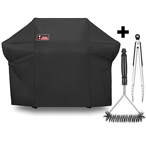 m Grill Cover for Weber Summit 400-Series Gas Grills (Compared to the Weber 7108 Grill Cover) Including Grill Brush and Tongs (Summit King)
