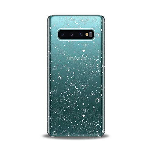 Lex Altern TPU Case for Samsung Galaxy s10 5G Plus 10e Note 9 s9 s8 s7 White Galaxy Flexible Stars Clear Smooth Solar System Slim fit Design Galactic Gift Cover Zodiacal Print Lightweight Planets Soft