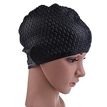 Silicone Swimming Long Hair Cap Waterproof Waterdrop Cover Anti-Skid Diving Swimming Hat For Women And Men