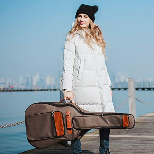 8f6dbc1ea3c CAHAYA Guitar Bag 40 41 42 Inches 6 Pockets [Upgraded Premium Version] Guitar  Case Waterproof Oxford ...