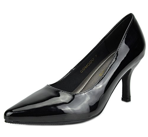 DREAM PAIRS COMODO New Women's Elegant Low Heels Pointy Close Toe Stiletto Pumps Shoes