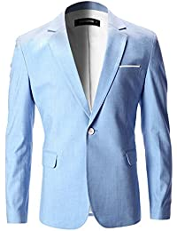 Mens Slim Fit Cotton Stylish Casual Blazer Jacket