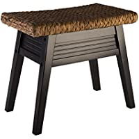 Elegant Home Fashions Jamaica Bench, Dark Espresso